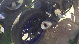 yamaha yzf r3 stock muffler exhaust sound