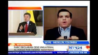 """""""FARC plantean un cese bilateral, lo que es inaceptable para el Estado"""": Ex viceministro de Defensa"""