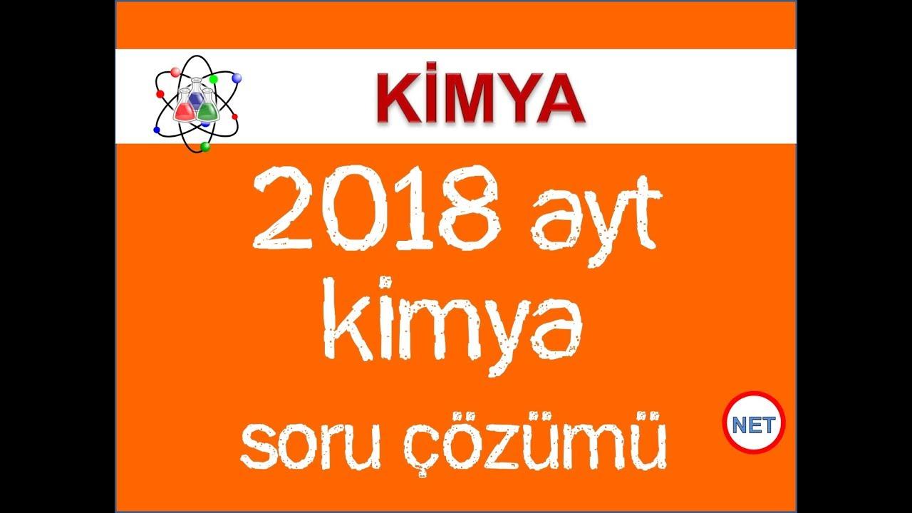 2018 AYT Kimya Soruları Çözümü - Hayat Kurtaran Sorular - Net Eğitim
