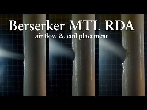 Berserker RDA, air flow &  coil placement