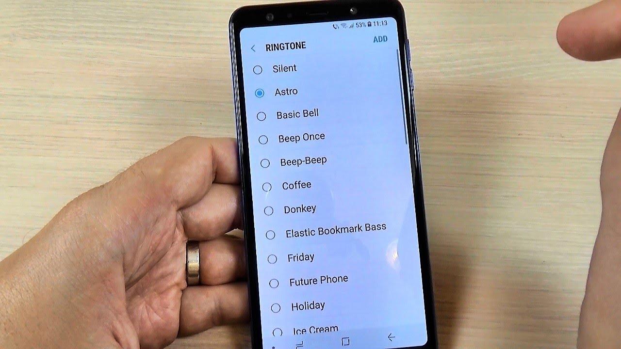 Samsung Galaxy A7 (2018) RINGTONES