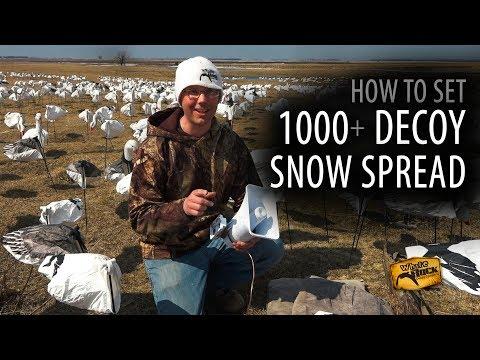 How To Set A 1000+ Decoy Snow Goose Spread