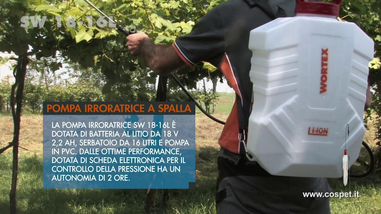 ef79e1556c POMPA IRRORATRICE A SPALLA WORTEX SW 18 16L - YouTube