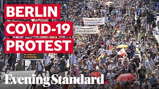 Berlin protests: Thousands march on German capital to protest coronavirus restrictions