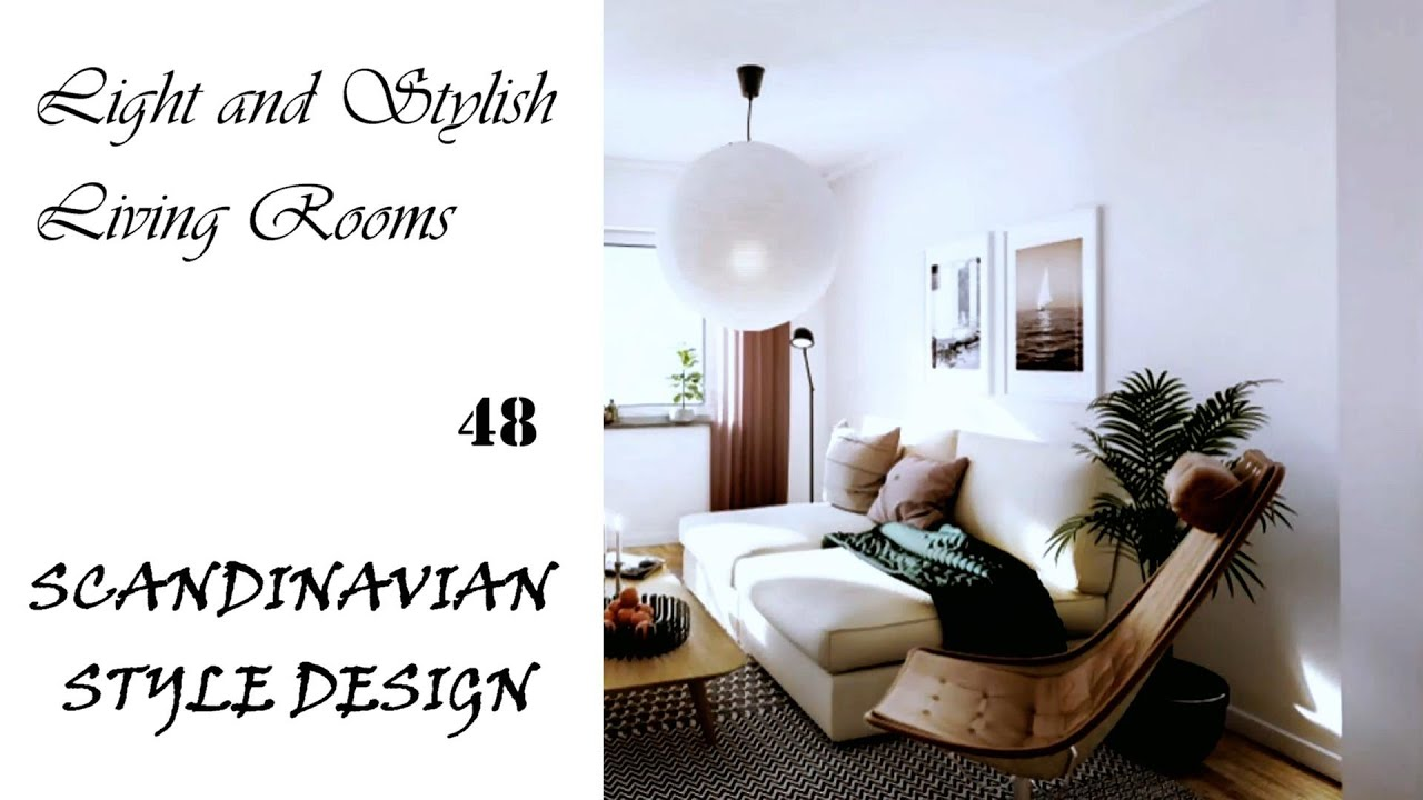 Light and Stylish Living Rooms | Scandinavian Style Design