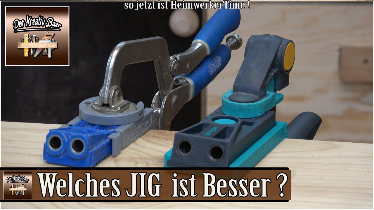 Relativ Wolfcraft Undercover Jig vs Kreg Jig - YouTube VZ89