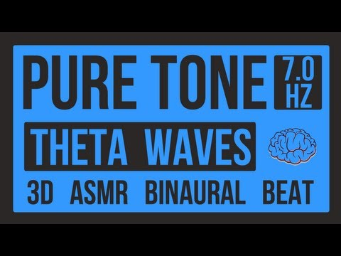 Pure Tone - Theta Waves - 7 Hz - Binaural Beats - High Quality - 3D - ASMR