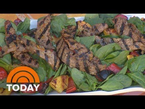 Camila Alves Makes A Delicious Brazilian Steak Salad  TODAY