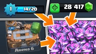 CLASH ROYALE CHEST OPENING!! Level 1 in Arena 6 Gemming Spree! (Magical and Super Magical Chests)