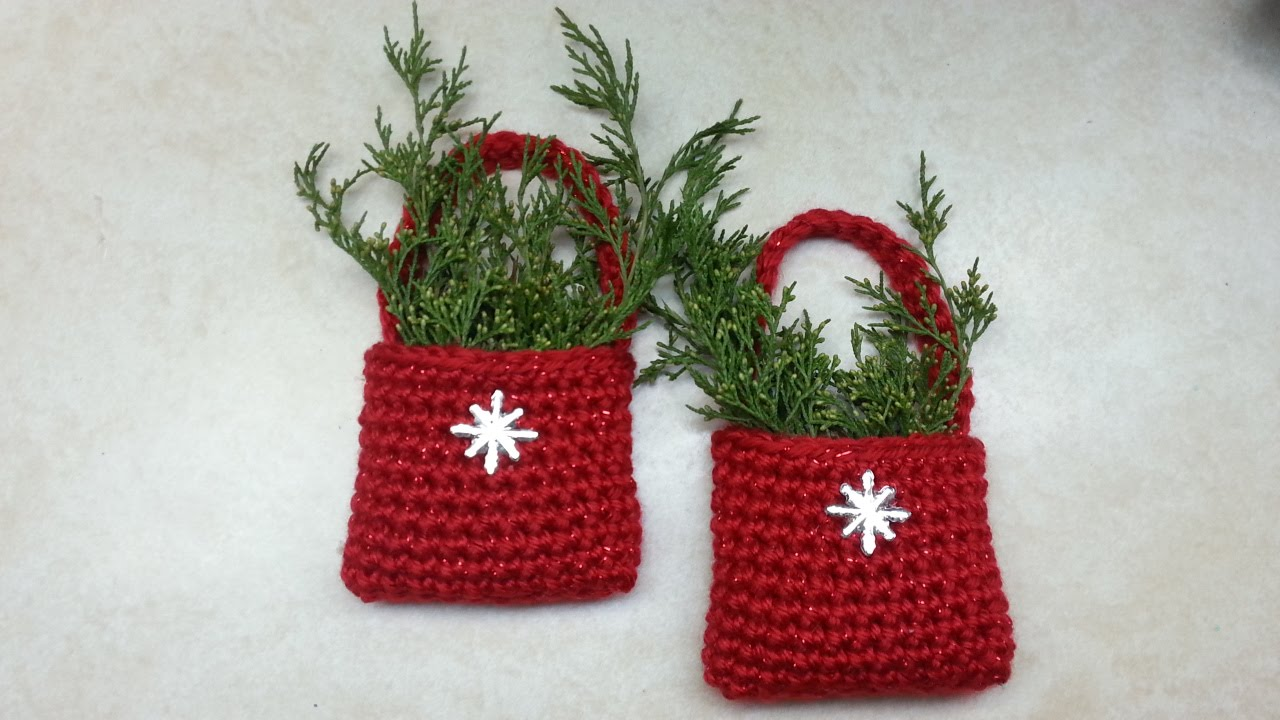 crochet how to crochet easy bag o day crochet christmas ornament tutorial 153 learn crochet dyi youtube
