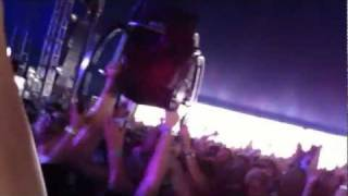 guy falling out of wheelchair while crowd surfing fail