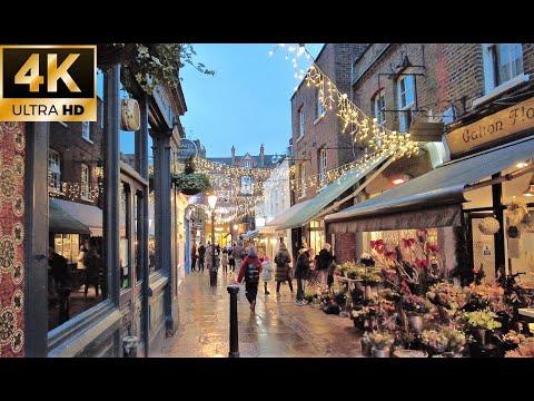 London Walking Tour 4k | Hampstead to Belsize Park |London Christmas before lockdown