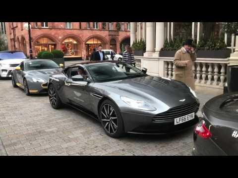 Aston Martin Rev Battle In London! Brand New Vanquish S!