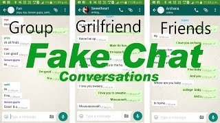 How to Make Fake Whatsapp Chat conversation in Hindi
