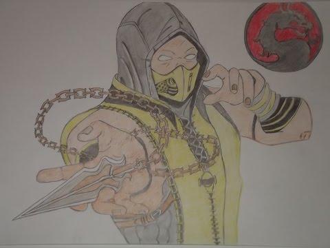 Скорпион. Рисунок цветными карандашами.Scorpion. Drawing with colored pencils.