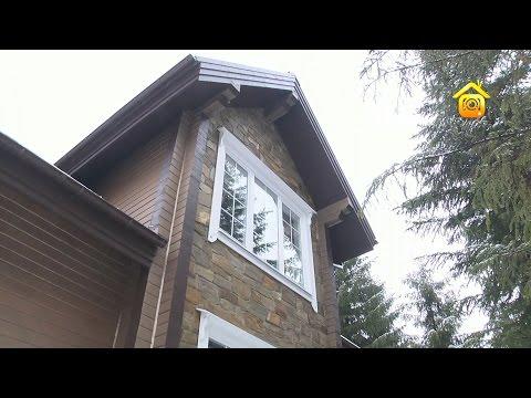 Отделка фасада деревянного дома камнем // FORUMHOUSE