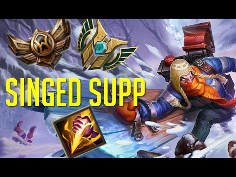 Caster Pobre: Singed Supp Smite ¿Troll o no? Ranked - Silver
