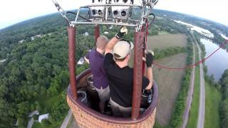 BBQ Roundup flyover in a Hot Air Balloon