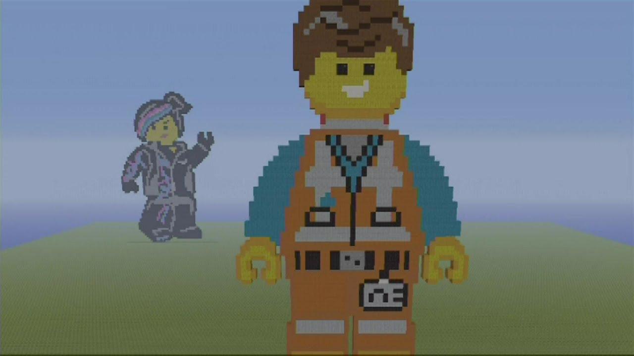 The Lego Movie Minecraft Pixel Art Emmet Speed Build Mc Time Lapse Pixel Art