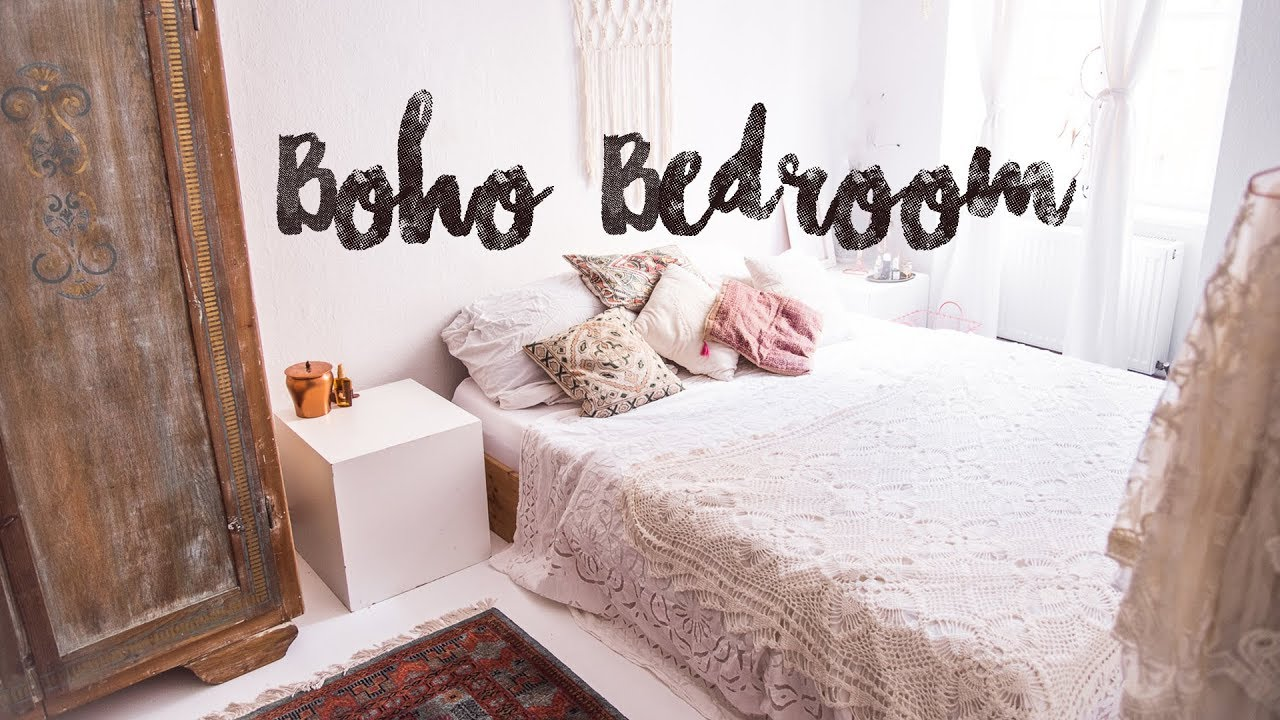 boho bedroom tour unser neues schlafzimmer pinterest inspired vintage diy youtube. Black Bedroom Furniture Sets. Home Design Ideas
