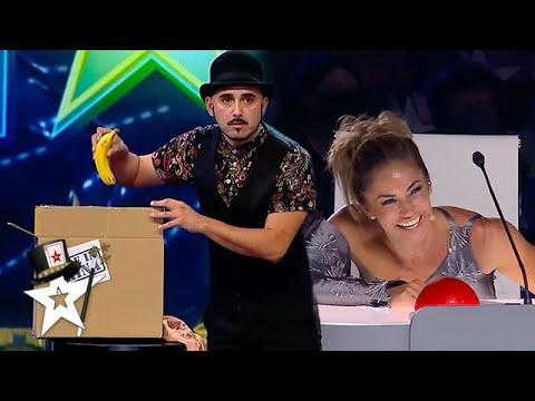 Magician Gets Judges Laughing With Disappearing Magic Trick! | Got Talent Global