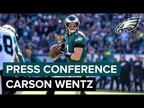 QB Carson Wentz Discusses Frustrating Loss To Carolina  Eagles Press Conference