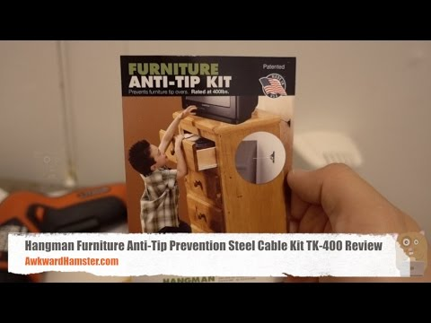 Anti Tip Prevention Steel Cable Kit