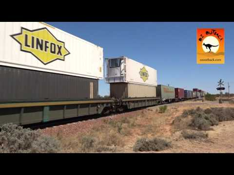 Freight train near Port Augusta, South Australia