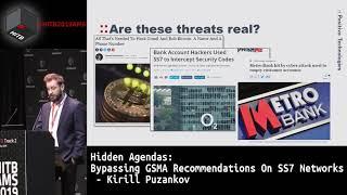 #HITB2019AMS D1T2 - Hidden Agendas: Bypassing GSMA Recommendations On SS7 Networks - Kirill Puzankov