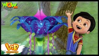 Vir The Robot Boy | Hindi Cartoon For Kids | The giant flower | Animated Series| Wow Kidz