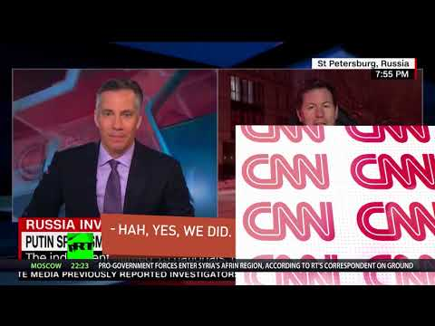 CNN talk trash in on-site hunt for Russian trolls