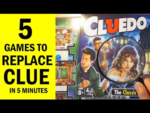 Top 5 Mystery Themed Board Games for fans of Clue / Cluedo, Sherlock Holmes & New Gamers