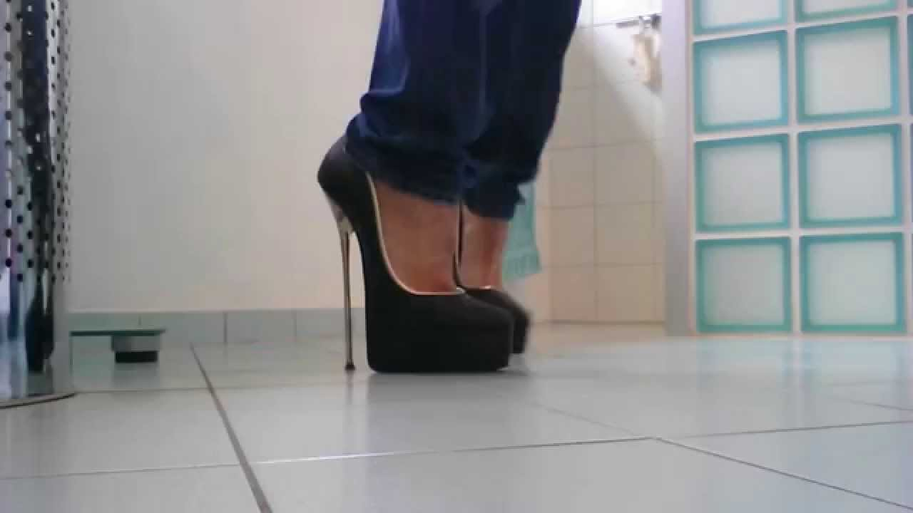 walking in sexy high heels 8 inch 20 cm - YouTube