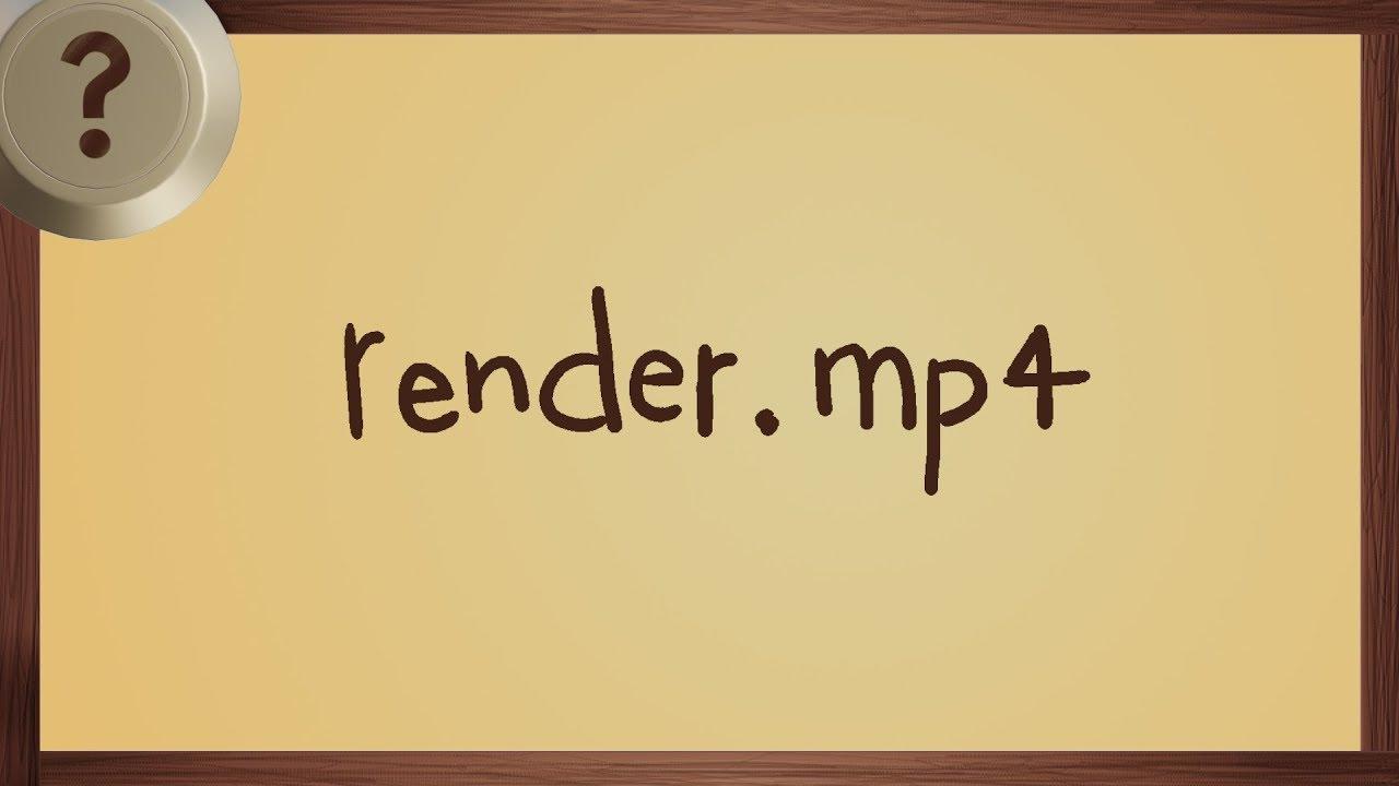 Beginner Tutorial: Quick Render to Video Format in Blender
