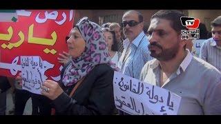 وقفة أصحاب أراضي «الحزام الأخضر»: مش عايزين غير القانون
