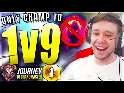 THE ONLY CHAMP THAT CAN 1v9 STILL? - Journey To Grandmaster | League of Legends