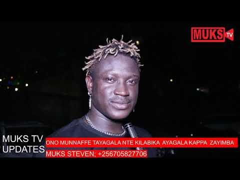 Gravity Omutujju aganye ente president Museveni zagabira abayimbi. [Muks Steven]