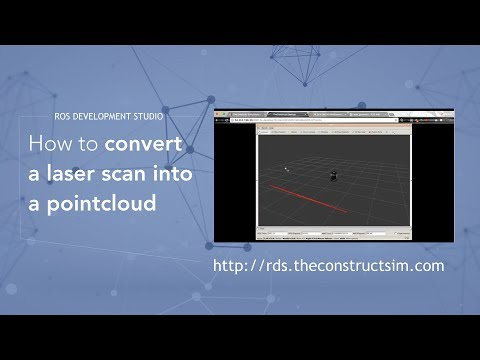 [ROS Q&A] 012 - How to convert a laser scan into a pointcloud
