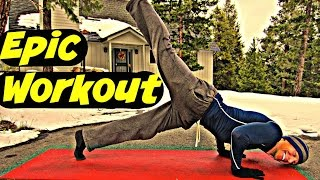 35 Min Epic Bodyweight Only Workout (part 1) | Cardio, Core, Power Yoga, HIIT, Pilates, Exercises