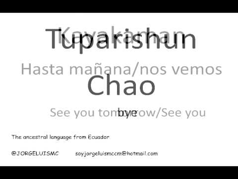 Learn Kichwa language Lesson 2