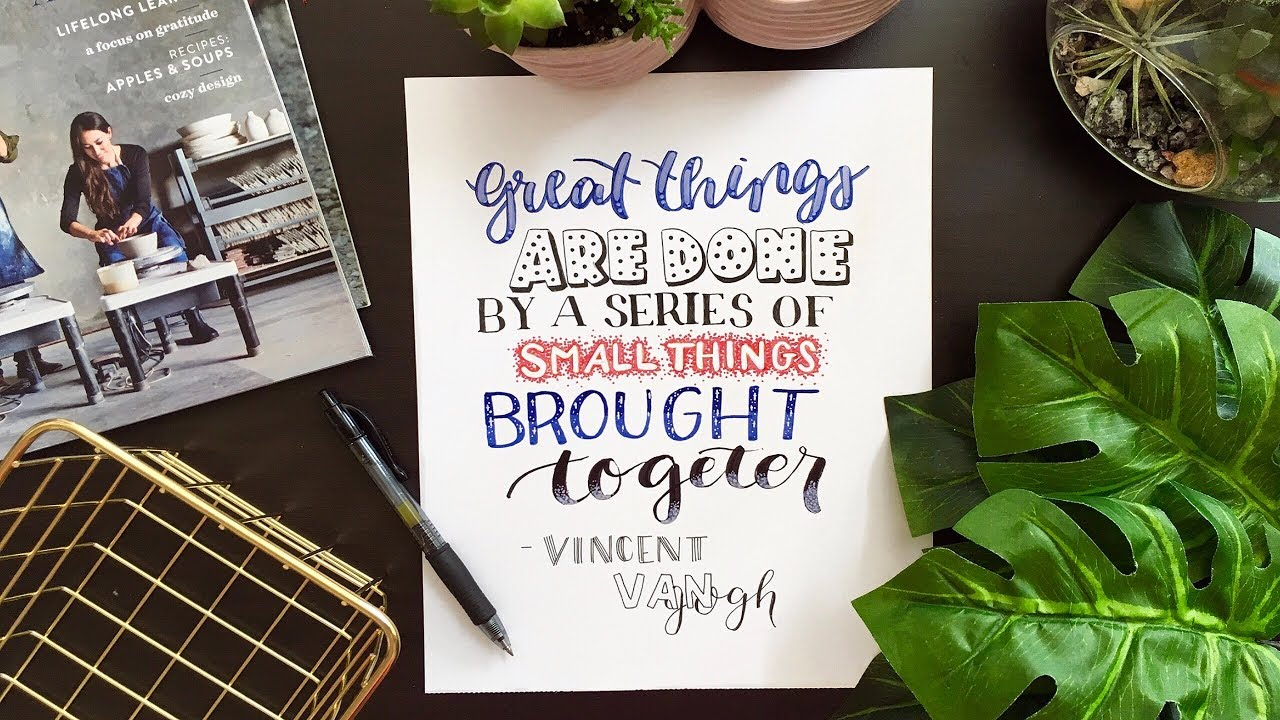 8 Hand Lettering Fonts How To Draw Different Styles