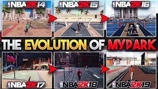 THE EVOLUTION OF MYPARK!! (2K14 - 2K19) How MyPark Has Changed in 2K!