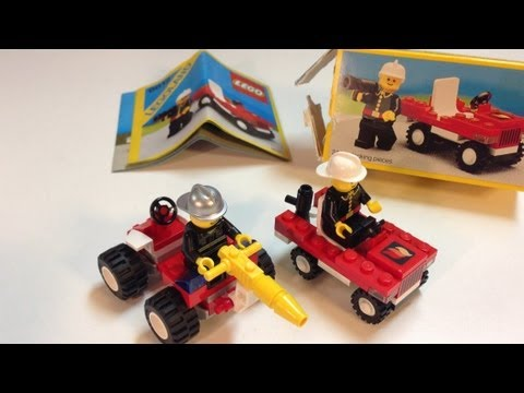 Vintage LEGO LEGOland Town set 6612 Fire Chief's Car from 1986
