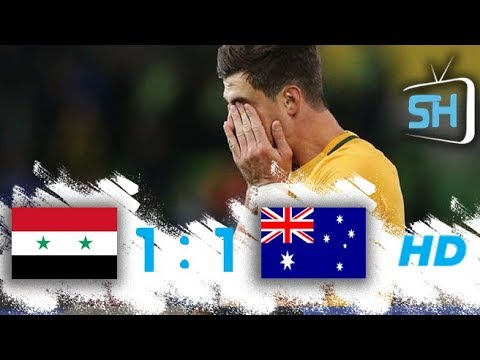 Syria vs Australia 1-1  All Goals and Highlights World Cup Qualifiers October 5 ,2017