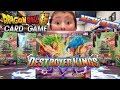THE RAREST DRAGONBALL CARD SET EVER RELEASED! DESTROYER KINGS BOOSTER BOX OPENING! ALL SOLD OUT!