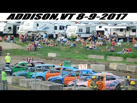 2017 Addison,VT Demoltion Derby 8-9-2017 (FULL SHOW)