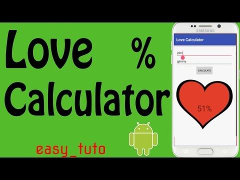 Love Percentage Calculator | Full App Development | Android Studio Tutorial (Beginners) HD |