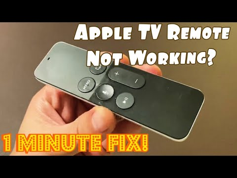 Apple TV Remote Not Working? 1 MINUTE FIX (TRY THIS FIRST)