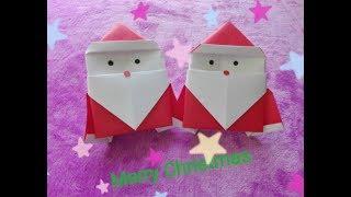 Origami easy Santa Clause / D.I.Y.พับซานตาคลอสจากกระดาษง่ายๆ