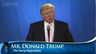 Donald Trump - Liberty University Convocation